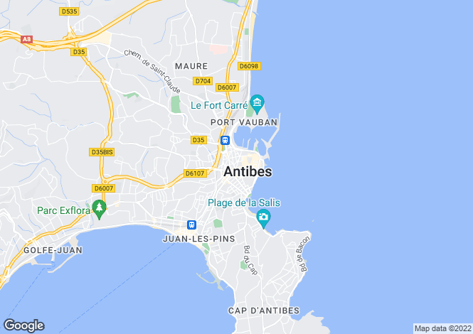 Map for Antibes, Alpes-Maritimes, 06600, France