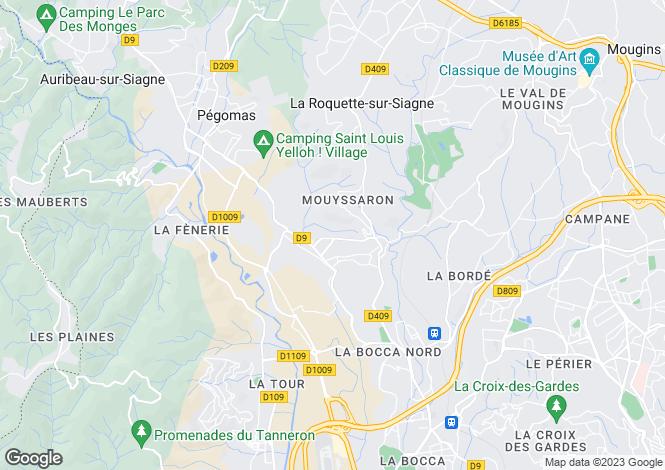 Map for La Roquette-Sur-Siagne, French Riviera