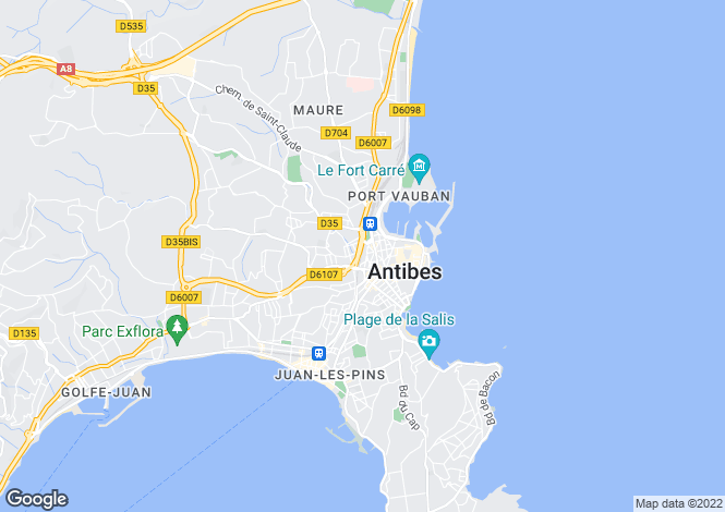 Map for Antibes, 06600, France