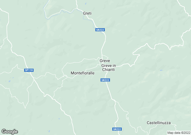 Map for Bed & Breakfast, Greve, Florence