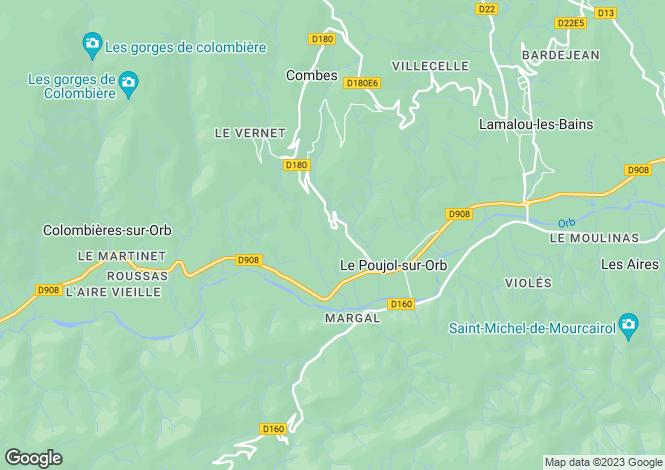 Map for le-poujol-sur-orb, Hérault, France