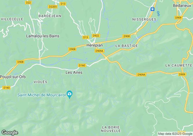 Map for les-aires, Hérault, France