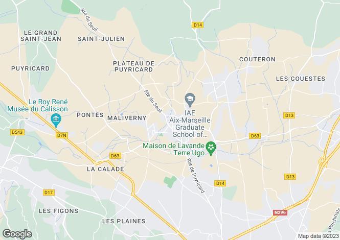 Map for puyricard, Bouches-du-Rhône, France