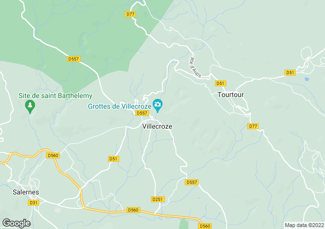 Map for Villecroze, 83690, France