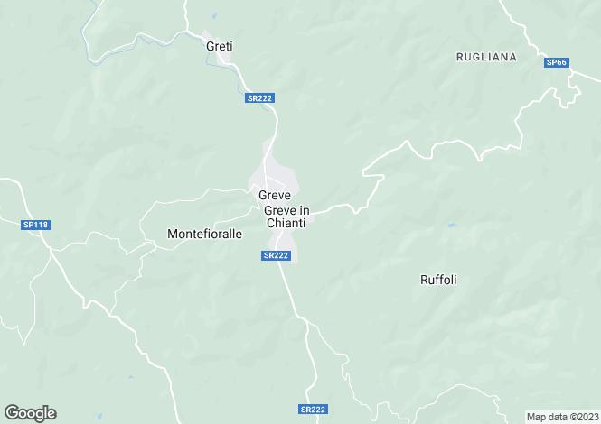 Map for Chianti, Greve