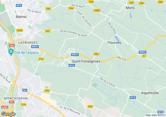 Map for Midi-Pyrénées, Haute-Garonne, Toulouse