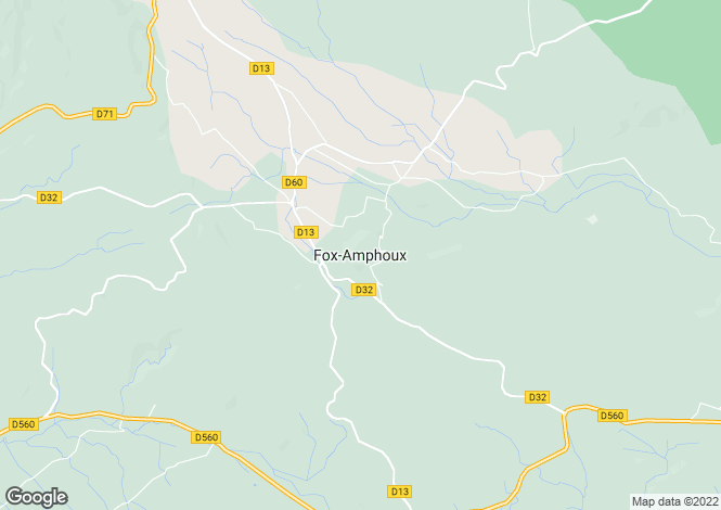 Map for Fox-Amphoux, Var, 83670, France