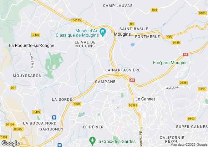 Map for Mouans-Sartoux, Provence-Alpes-Cote dAzur, France