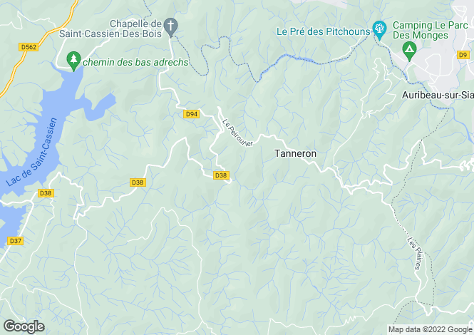 Map for Tourrettes, France