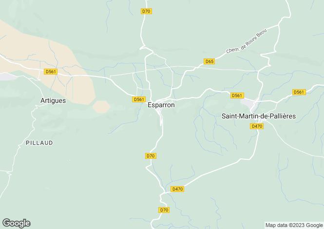 Map for esparron, Var, France