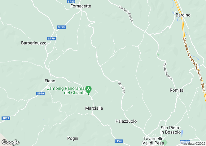 Map for Tuscany, Florence, Tavarnelle Val di Pesa