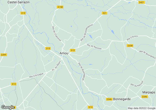 Map for Aquitaine, Landes, Amou