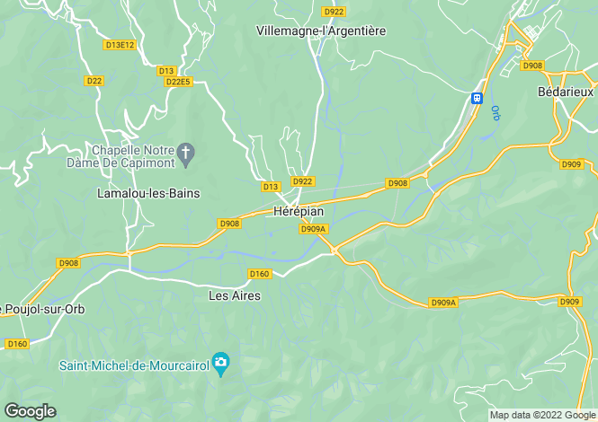 Map for Herepian, Languedoc-Roussillon, France