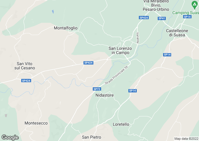 Map for Le Marche, Pesaro e Urbino, San Lorenzo in Campo
