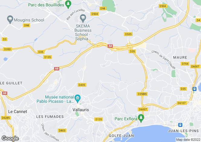 Map for VALLAURIS,Provence-Alpes-Côte d'Azur, France