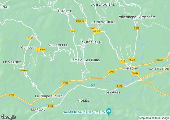 Map for Lamalou-Les-Bains, Languedoc-Roussillon, 34240, France