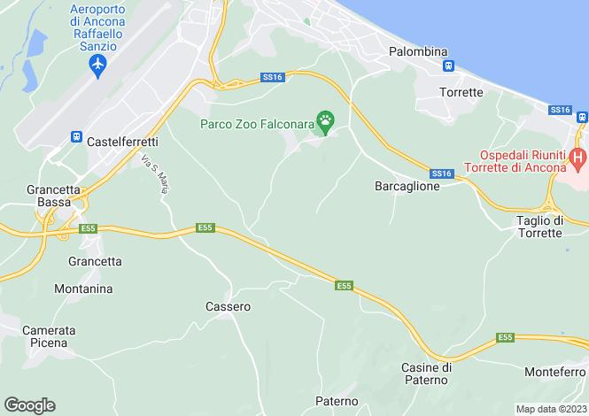Map for Ancona, Ancona, Le Marche