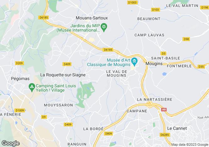 Map for Provence-Alps-Cote d`Azur, Alpes-Maritimes, La Roquette-sur-Siagne