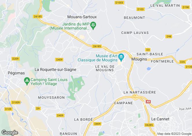 Map for Mougins, Alpes-Maritimes, Provence-Alps-Cote d`Azur