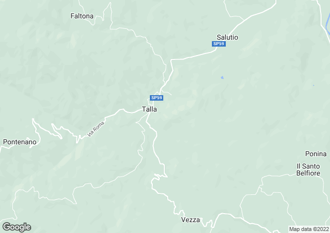 Map for Talla, Tuscany, Italy