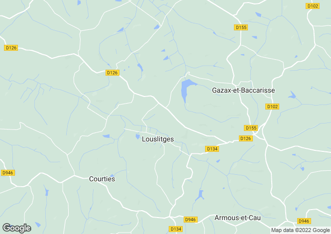 Map for louslitges, Gers, France