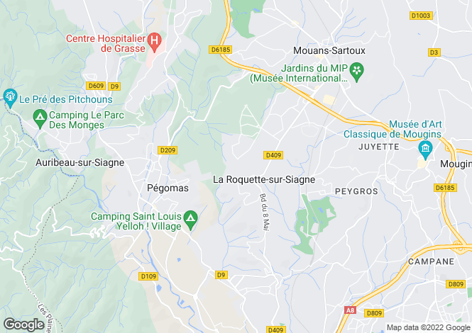 Map for La Roquette-sur-Siagne, 06550, France