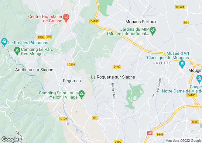 Map for LA ROQUETTE SUR SIAGNE,Provence-Alpes-Côte d'Azur, France