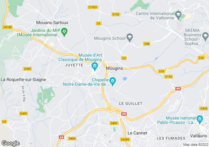 Map for Mougins,France