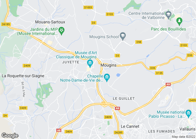 Map for Mougins, Alpes-Maritimes, Provence-Alps-Cote d`Azur
