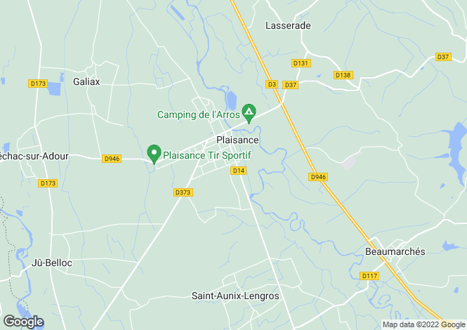 Map for Midi-Pyrenees, Gers, Plaisance