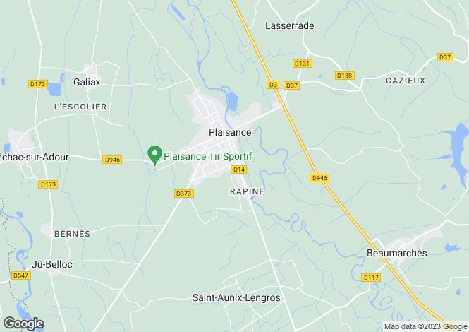 Map for Midi-Pyrénées, Gers, Plaisance