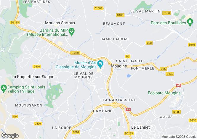 Map for Provence-Alps-Cote d`Azur, Alpes-Maritimes, Mougins