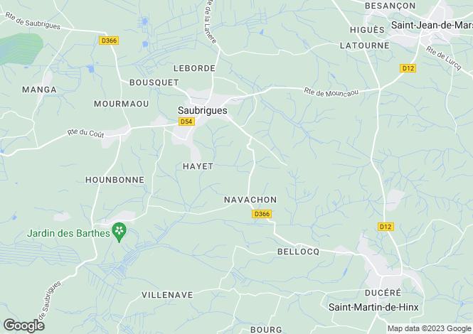 Map for Aquitaine, Landes, Saubrigues