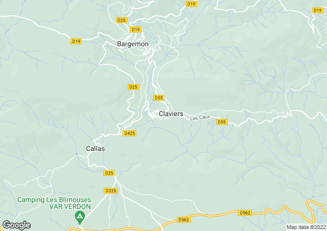 Map for Claviers, Var, France