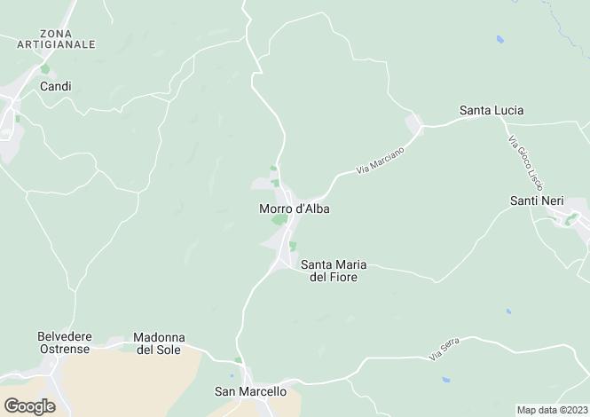 Map for Le Marche, Ancona, Morro D'alba