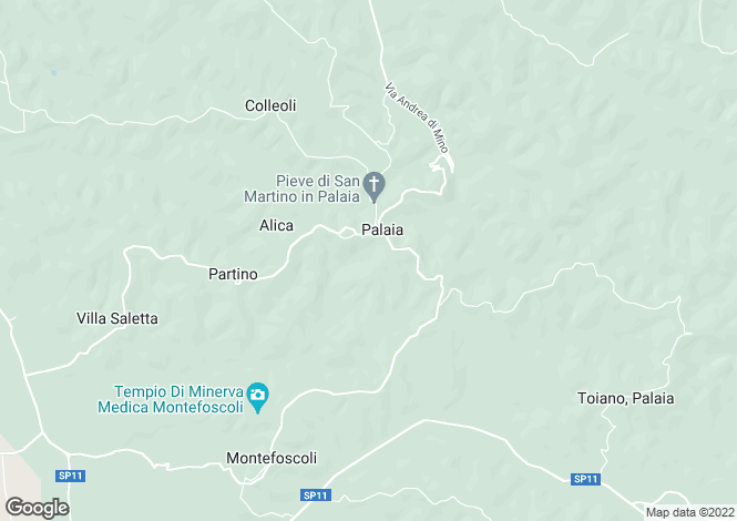 Map for Palaia,Italy