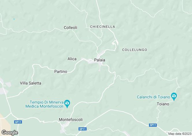 Map for Palaia, Tuscany, Italy