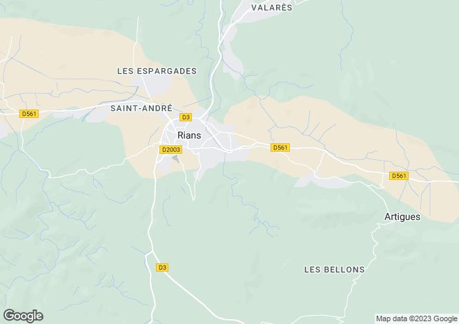 Map for rians, Var, France