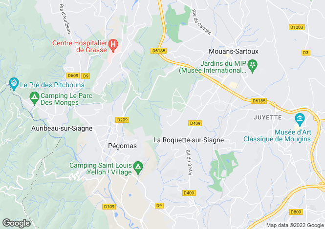 Map for Cabris, France