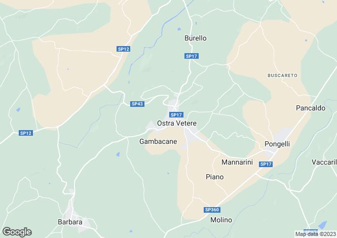 Map for Le Marche, Ancona, Ostra Vetere