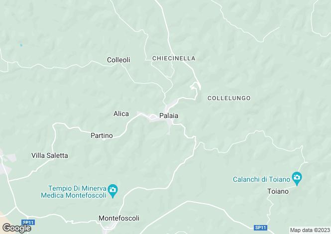 Map for Tuscany, Pisa, Palaia