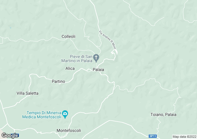 Map for Palaia, Tuscany, Italy