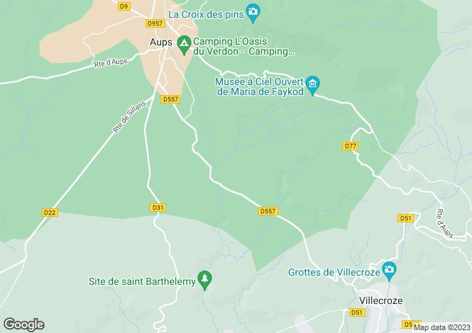 Map for Aups, Haut Var