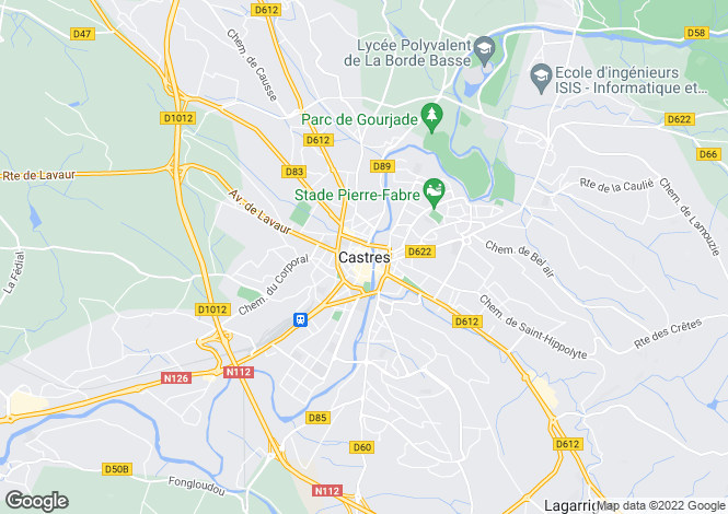 Map for Proche / Near Castres, Tarn