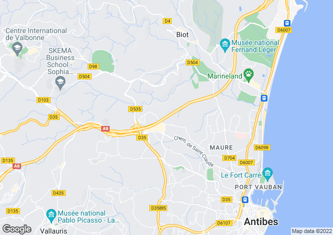 Map for Antibes, Alpes-Maritimes, France