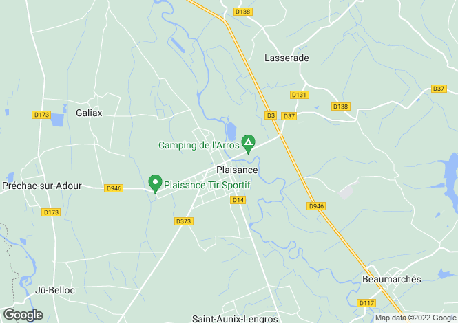 Map for Plaisance Du Gers, Hautes-Pyryonyoes, 32160, France