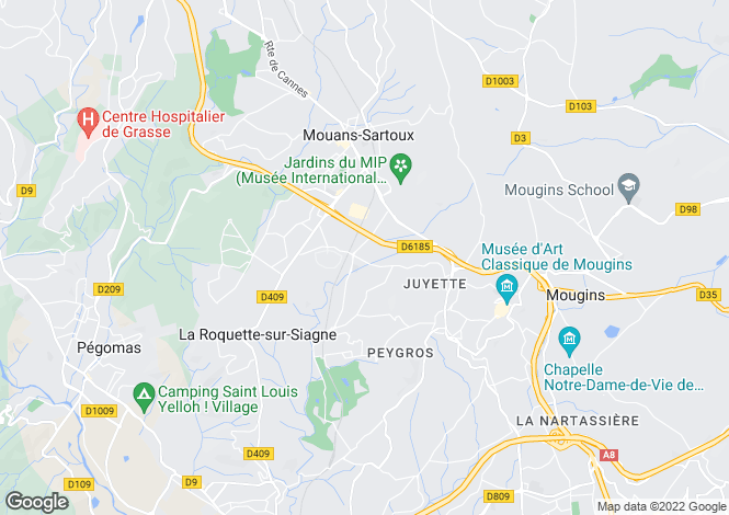Map for Grasse, Provence-Alpes-Cote dAzur, France