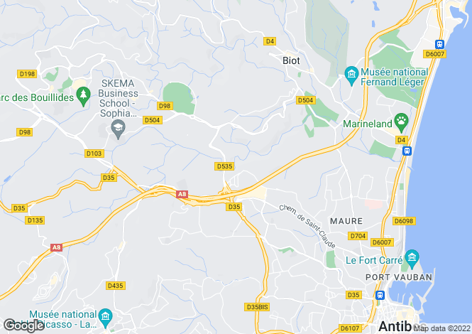 Map for Cagnes-Sur-Mer, Provence-Alpes-Cote dAzur, France