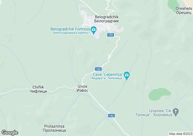 Map for Vidin, Belogradchik