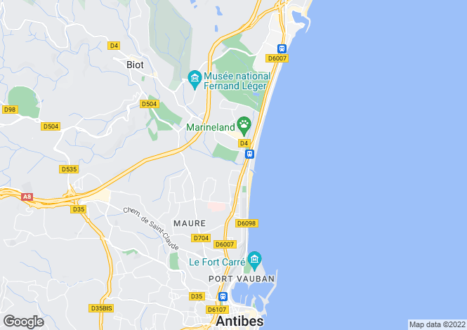 Map for Antibes, Alpes-Maritimes, Provence-Alps-Cote d`Azur
